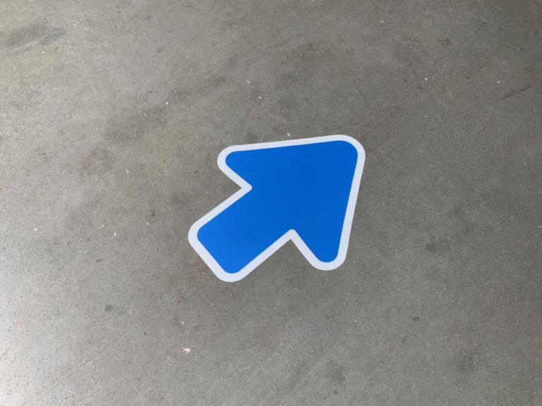 Vloersticker Pijl blauw