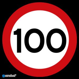 Simbol - Stickers 100 km - Maximaal 100 km/u - Duurzame Kwaliteit