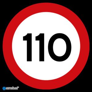 Simbol - Stickers 110 km - Maximaal 110 km/u - Duurzame Kwaliteit