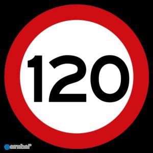 Simbol - Stickers 120 km - Maximaal 120 km/u - Duurzame Kwaliteit