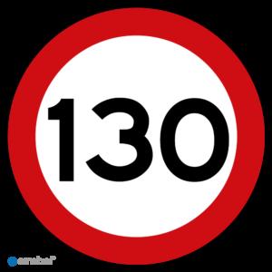 Simbol - Stickers 130 km - Maximaal 130 km/u - Duurzame Kwaliteit