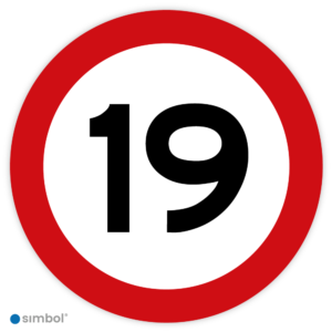 Stickers Maximaal 19 km per uur