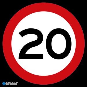 Stickers Maximaal 20 km per uur