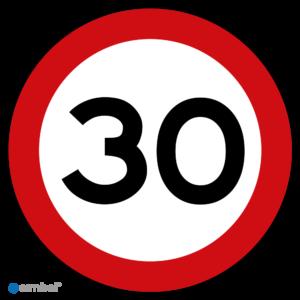 Stickers Maximaal 30 km per uur