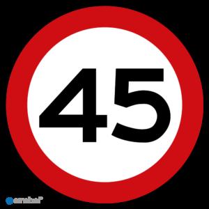 Stickers Maximaal 45 km per uur