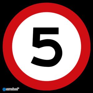 Stickers Maximaal 5 km per uur