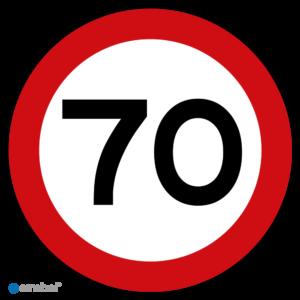 Simbol - Stickers 70 km - Maximaal 70 km/u - Duurzame Kwaliteit