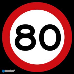 Simbol - Stickers 80 km - Maximaal 80 km/u - Duurzame Kwaliteit