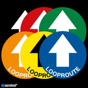 Simbol - Vloerstickers Looproute met Pijl - Anti-Slip