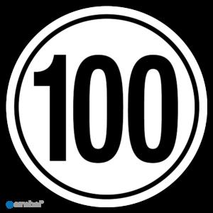 Simbol - Stickers Tempo 100 km - Tempostickers Maximaal 100 km - Duurzame Kwaliteit
