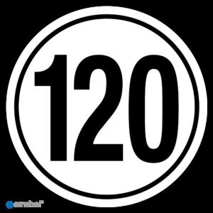 Simbol - Stickers Tempo 120 km - Tempostickers Maximaal 120 km - Duurzame Kwaliteit