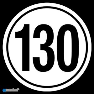 Simbol - Stickers Tempo 130 km - Tempostickers Maximaal 130 km - Duurzame Kwaliteit