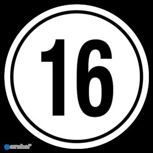 Simbol - Stickers Tempo 16 km - Tempostickers Maximaal 16 km - Duurzame Kwaliteit