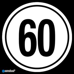 Tempostickers Maximaal 60 km per uur
