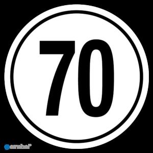 Tempostickers Maximaal 70 km per uur