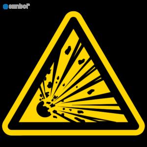 Simbol Pictogram Explosieve stoffen (W002)