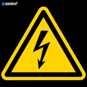 Simbol Pictogram Gevaarlijke elektrische spanning (W012)