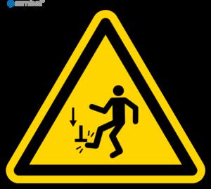 Simbol Pictogram Pas op voor vallende voorwerpen