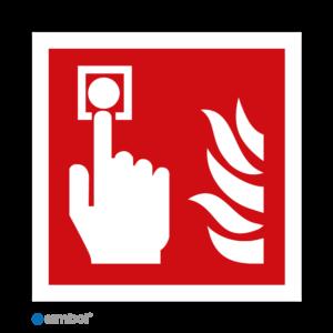 Simbol - Stickers Brandmelder - Brandalarm (F005) - Duurzame Kwaliteit