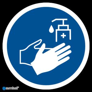 Simbol - Stickers Handen Desinfecteren Verplicht - Duurzame Kwaliteit