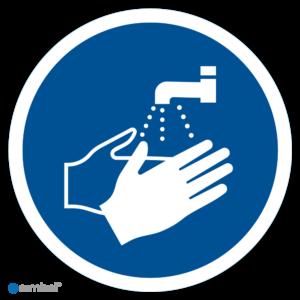 Simbol - Stickers Handen Wassen Verplicht (M011) - Duurzame Kwaliteit