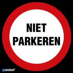 Simbol Pictogram Niet Parkeren
