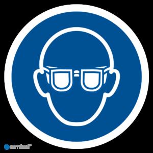 Simbol Pictogram Oogbescherming verplicht