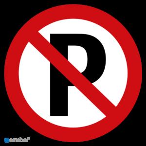 Simbol - Bord P (Niet Parkeren) - Dibond