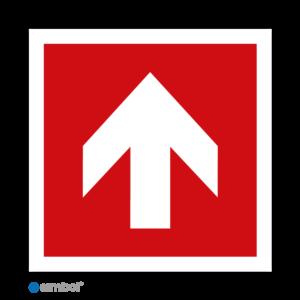 Simbol - Stickers Pijl Recht 90 graden - Duurzame Kwaliteit