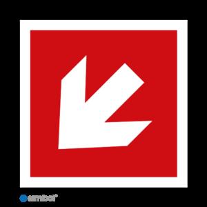 Simbol - Stickers Pijl Schuin 45 graden - Duurzame Kwaliteit