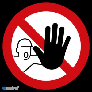 Simbol - Stickers Verboden Toegang voor Onbevoegden - Duurzame Kwaliteit