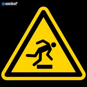 Simbol Pictogram Struikelgevaar (W007)