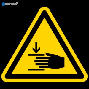 Simbol Pictogram Verwondingen aan de hand (W024)