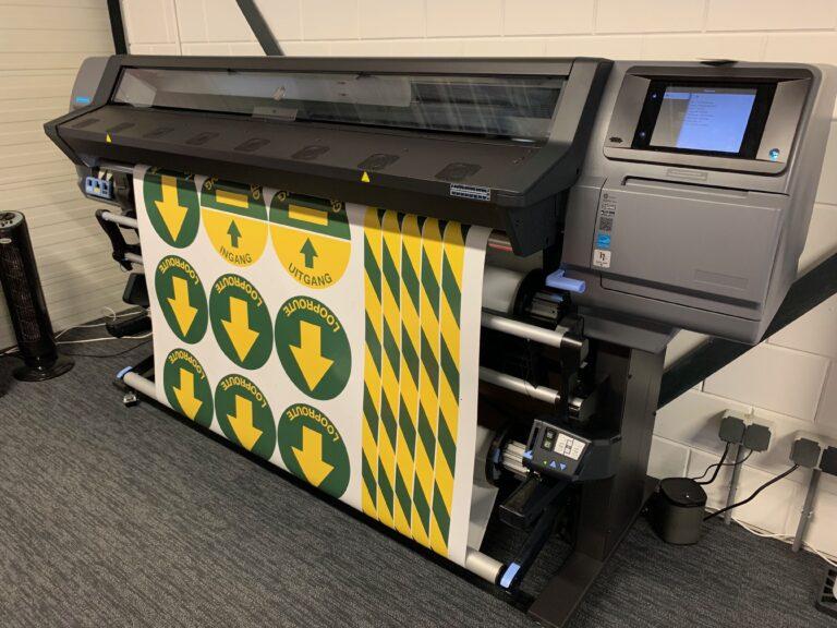 Vloerstickers printen bij Simbol