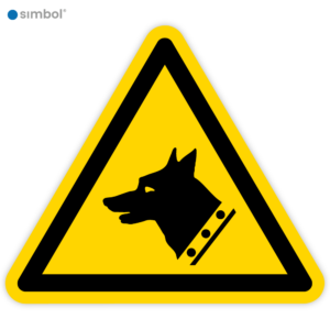 Simbol - Stickers Gevaarlijke Hond - Waakhond (W013) - Duurzame Kwaliteit