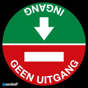 Simbol Ingang - Geen Uitgang