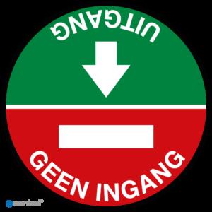 Simbol Uitgang - Geen-Ingang