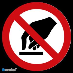 Simbol - Stickers Aanraken Verboden - Niet Aanraken (P010) - Duurzame Kwaliteit