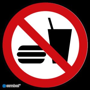 Simbol - Stickers Eten en Drinken Verboden - Verboden te Eten en Drinken (P022) - Duurzame Kwaliteit