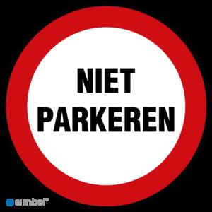 Simbol - Stickers Niet Parkeren - Verboden Te Parkeren - Duurzame Kwaliteit