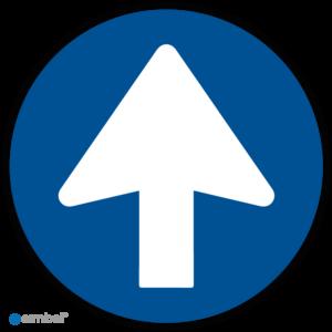 Simbol - Vloerstickers Eenrichting - Looprichting - COVID-19 Vloerstickers - Houd Afstand Stickers - Anti-Slip