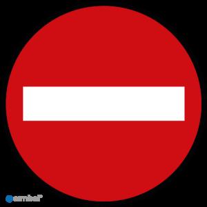 Simbol - Vloerstickers Verboden Toegang - Geen Toegang - COVID-19 Vloerstickers - Houd Afstand Stickers - Anti-Slip