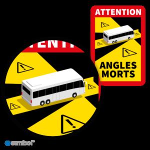 Simbol - Magneetsticker Dode Hoek Frankrijk Bus - Camper - Attention Angles Morts - Duurzame Kwaliteit - Formaat 17 x 25 cm - Detail