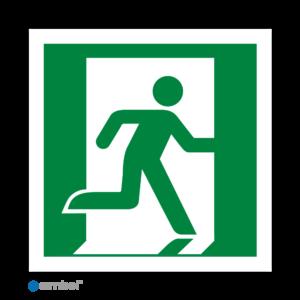 Simbol - Stickers Nooduitgang Rechts (E002) - Duurzame Kwaliteit