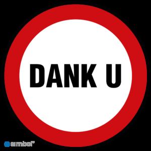 Simbol - Stickers Dank u - Duurzame Kwaliteit