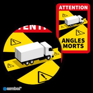 Simbol - Sticker Dode Hoek Frankrijk Vrachtwagen - Camion - Attention Angles Morts - Duurzame Kwaliteit - Formaat 17 x 25 cm - Detail