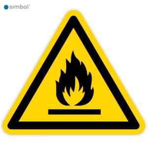 Simbol - Stickers Ontvlambare Stoffen (W021) - Duurzame Kwaliteit