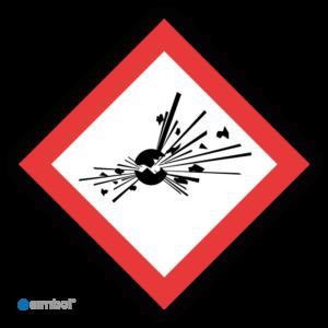 Simbol - Sticker GHS01 Explosief - Explosive - Duurzame Kwaliteit