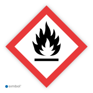 Simbol - Sticker GHS02 Ontvlambaar - Flammable - Duurzame Kwaliteit