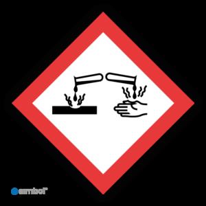 Simbol - Sticker GHS05 Corrosief - Corrosive - Duurzame Kwaliteit